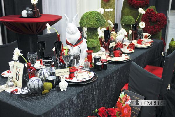 Alice in Wonderland Movie Theme wedding reception design ...