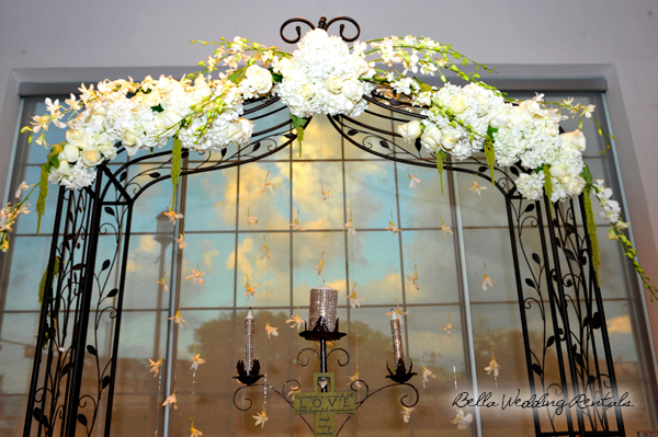 Wrought Iron Decorated Wedding Arch