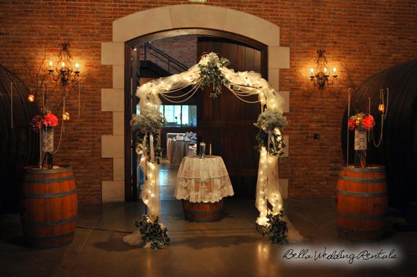 Indoor wedding arch lights gallery for Diy indoor wedding arch