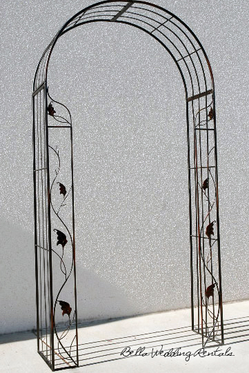 metal leaf wedding arch