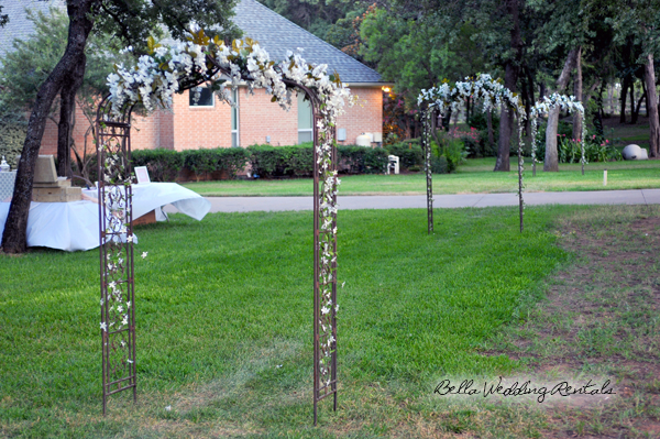 Decorated Wrought Iron Wedding Arch