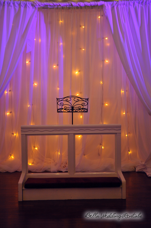 Fabric Illunimated Wedding Altar