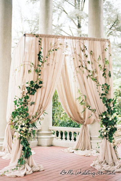 Garden Fabric wedding altar