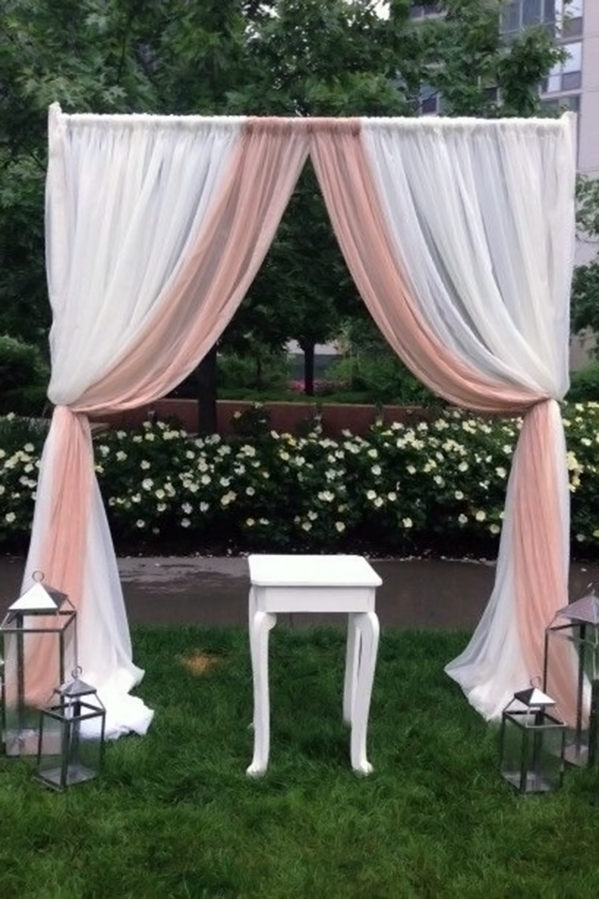 backdrop, two toned fabric