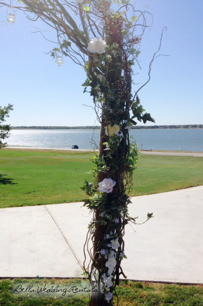 decorated twig arch