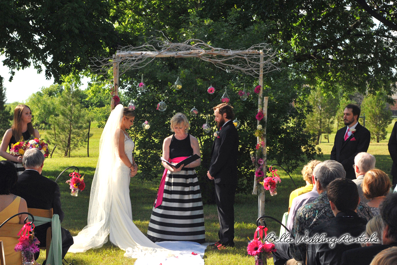 Birch Twig Garden Wedding Arch