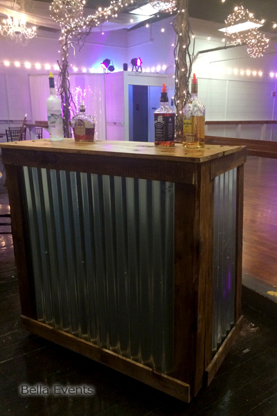 Rustic Reception Bar