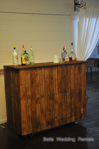 rustic Vineyard wood bar