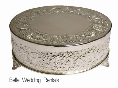 Decorated Silver Cake Stand