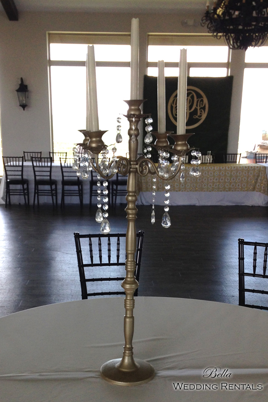 CANDLESTICKS on a Champagne Jeweled Candelabra