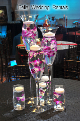 wedding reception centerpiece rentals