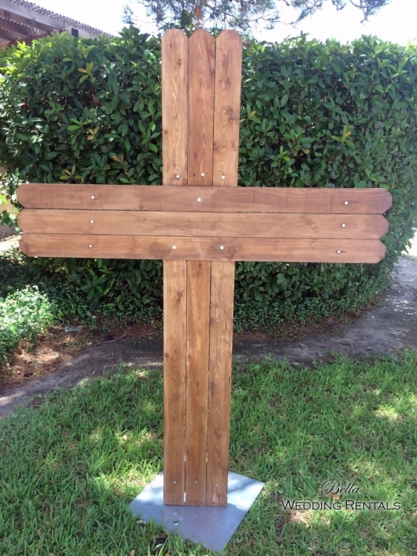 Wooden Cross - adjustable height.