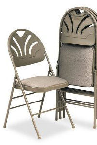 round back folding chair