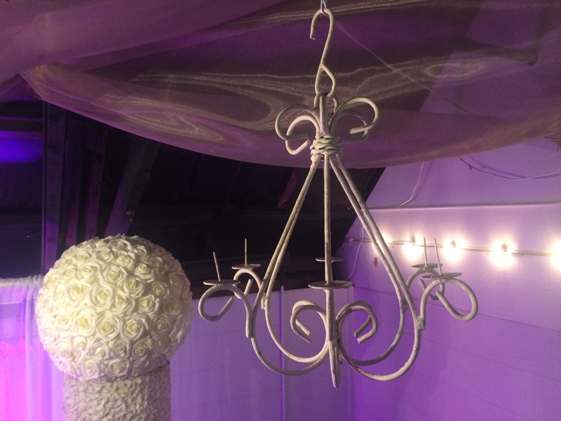 White Metal Chandelier