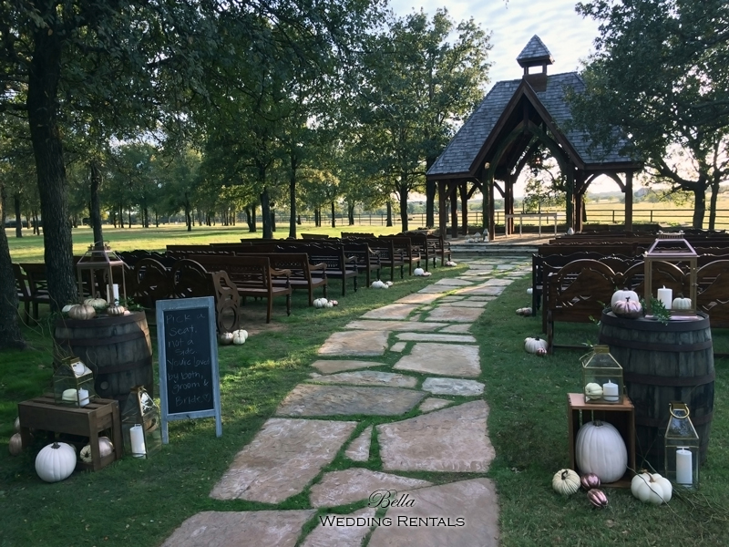 wedding altar & reception decor - Classic Oaks Ranch - 7801
