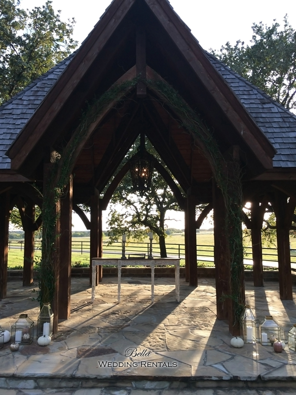 wedding altar & reception decor - Classic Oaks Ranch - 7803
