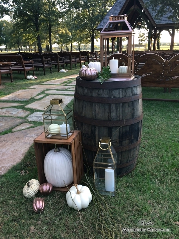 wedding altar & reception decor - Classic Oaks Ranch - 7805