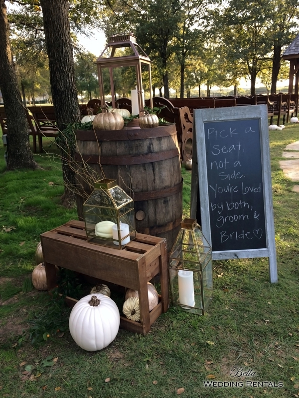 wedding altar & reception decor - Classic Oaks Ranch - 7806