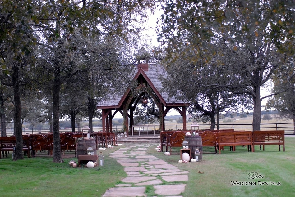 wedding altar & reception decor - Classic Oaks Ranch - 7807