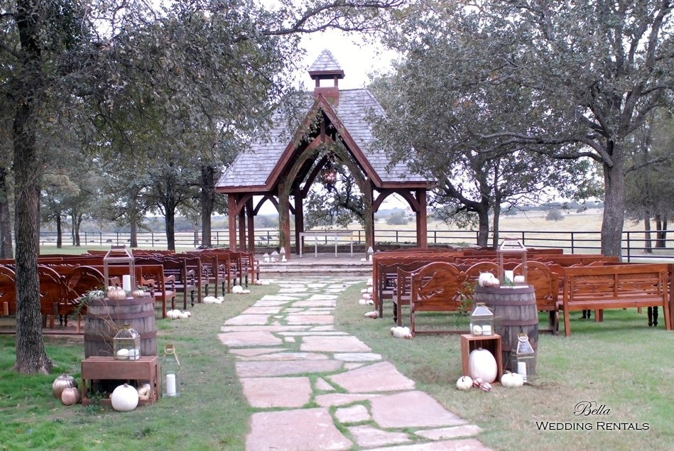 wedding altar & reception decor - Classic Oaks Ranch - 7808