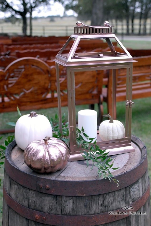 wedding altar & reception decor - Classic Oaks Ranch - 7809