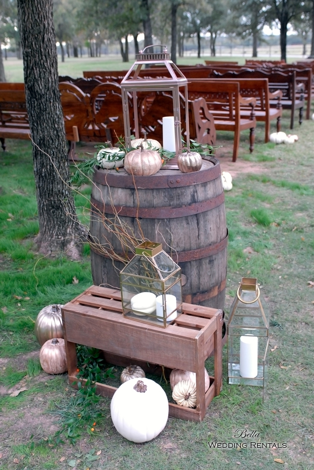 wedding altar & reception decor - Classic Oaks Ranch - 7810