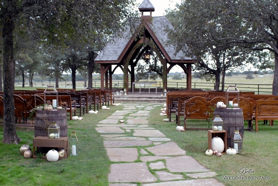 wedding altar & reception decor - Classic Oaks Ranch - 7811