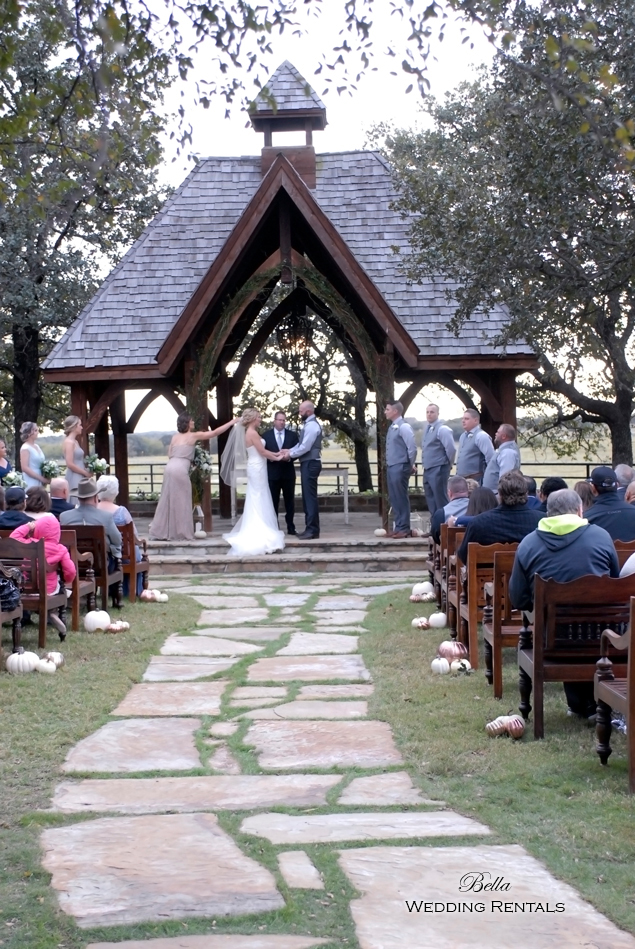 wedding altar & reception decor - Classic Oaks Ranch - 7812
