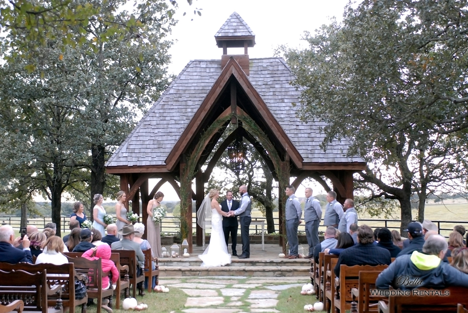 wedding altar & reception decor - Classic Oaks Ranch - 7813