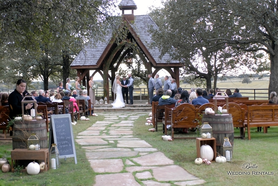 wedding altar & reception decor - Classic Oaks Ranch - 7814