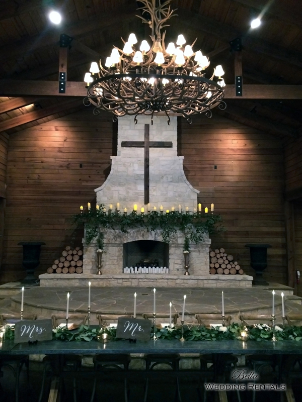wedding altar & reception decor - Classic Oaks Ranch - 7818