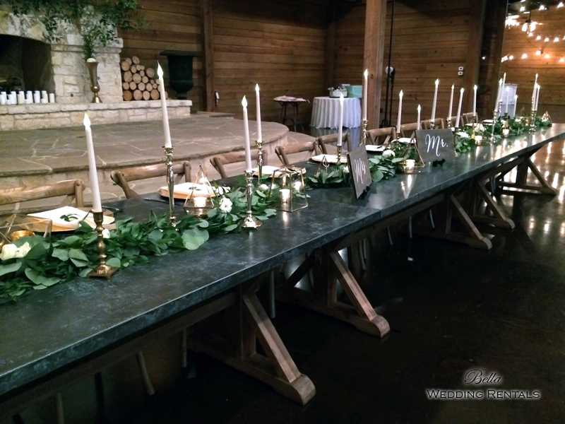 wedding altar & reception decor - Classic Oaks Ranch - 7821