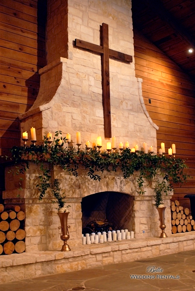 wedding altar & reception decor - Classic Oaks Ranch - 7833