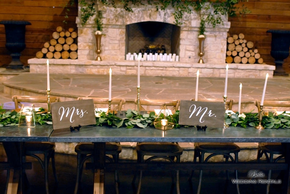 wedding altar & reception decor - Classic Oaks Ranch - 7836