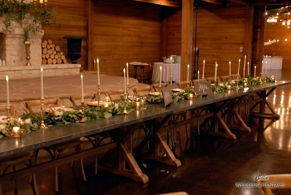 wedding altar & reception decor - Classic Oaks Ranch - 7838