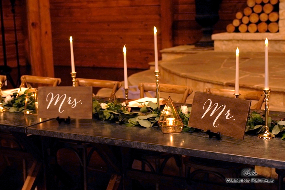 wedding altar & reception decor - Classic Oaks Ranch - 7839