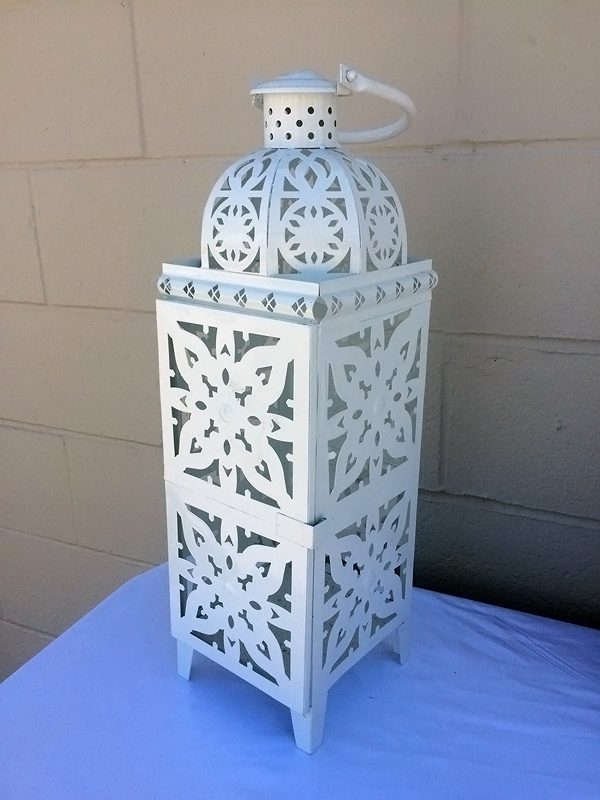 white wedding coach lantern