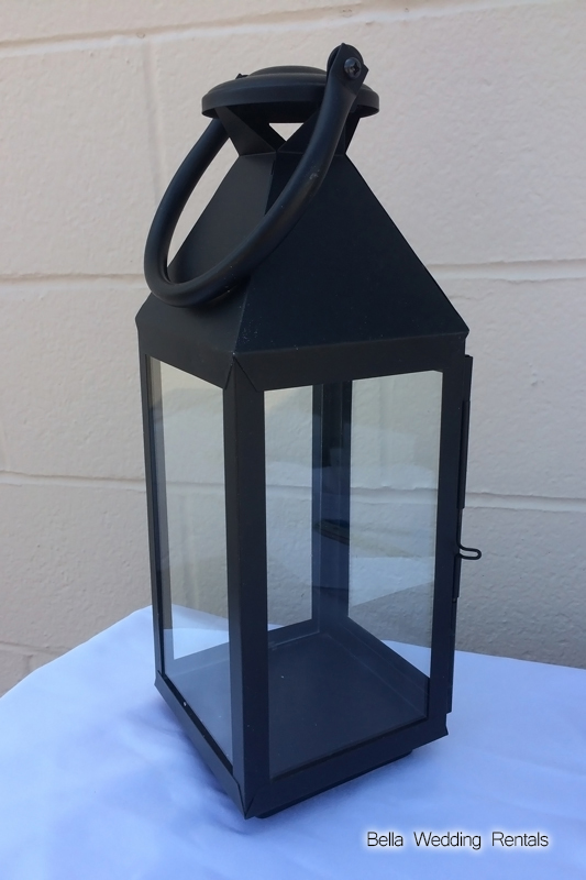 Black wedding coach lantern