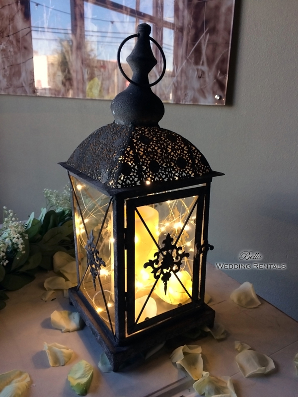 Rustic Brown Coach Lantern