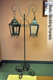 coach lanterns with stand