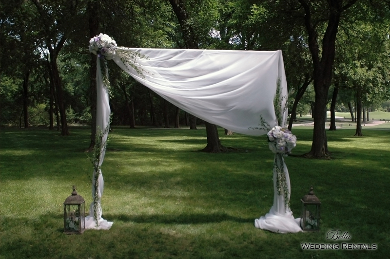 fabric wedding arch