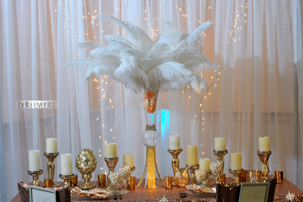 great gatsby wedding theme - Chateau at Forest Park wedding - 1535