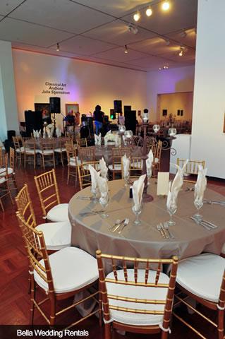 Fort Worth Community Arts Center Wedding Reception Design