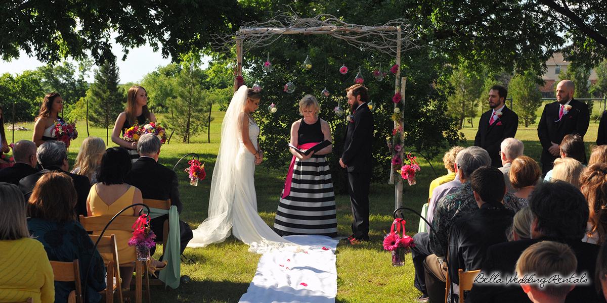 Awesome backyard wedding