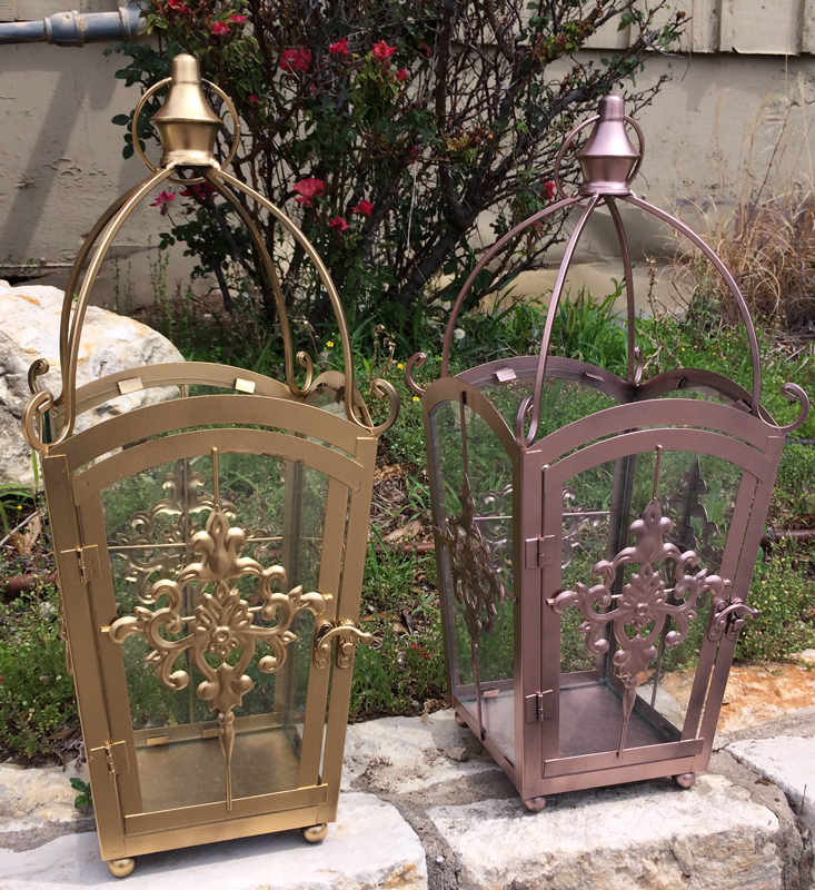 Gold and Rose Gold Coach Lanterns