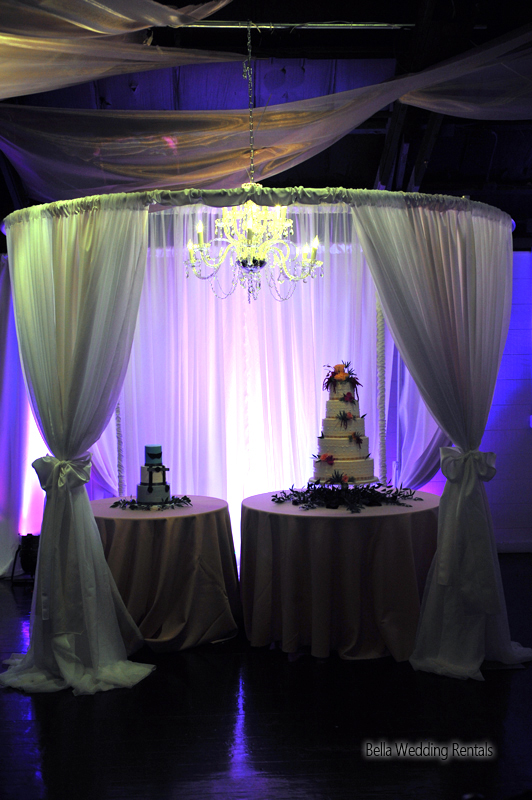 wedding specialty fabric - pipe & drape rental - 8204