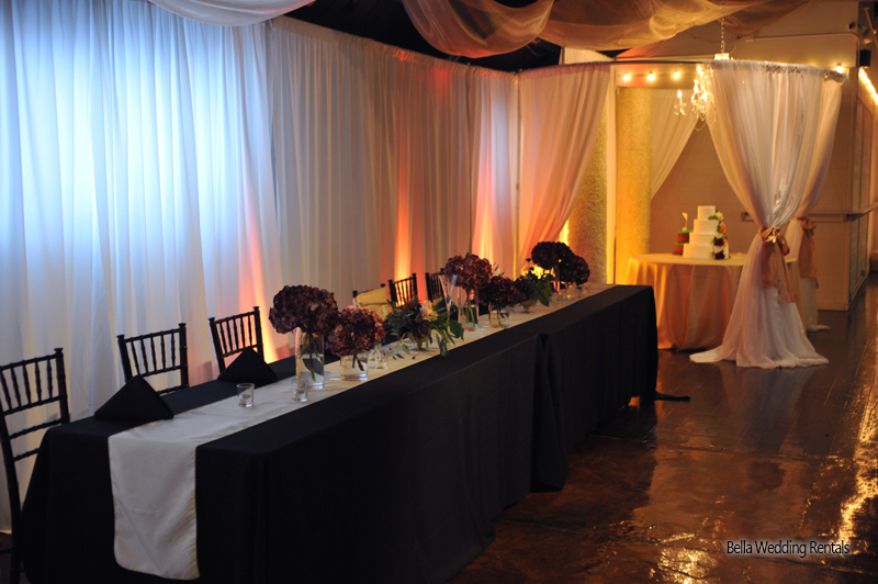 wedding specialty fabric - pipe & drape rental - 8207