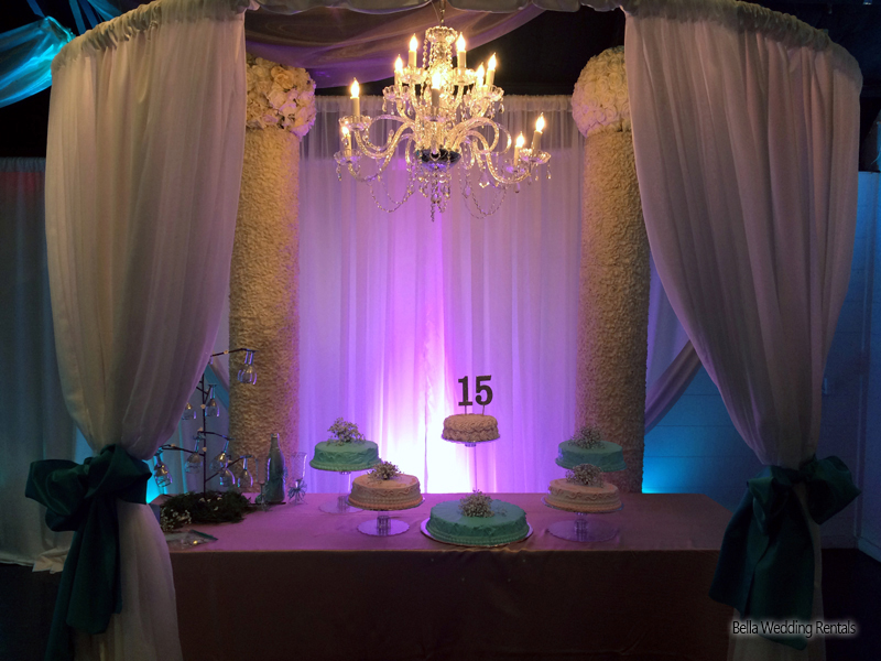 wedding specialty fabric - pipe & drape rental - 8208