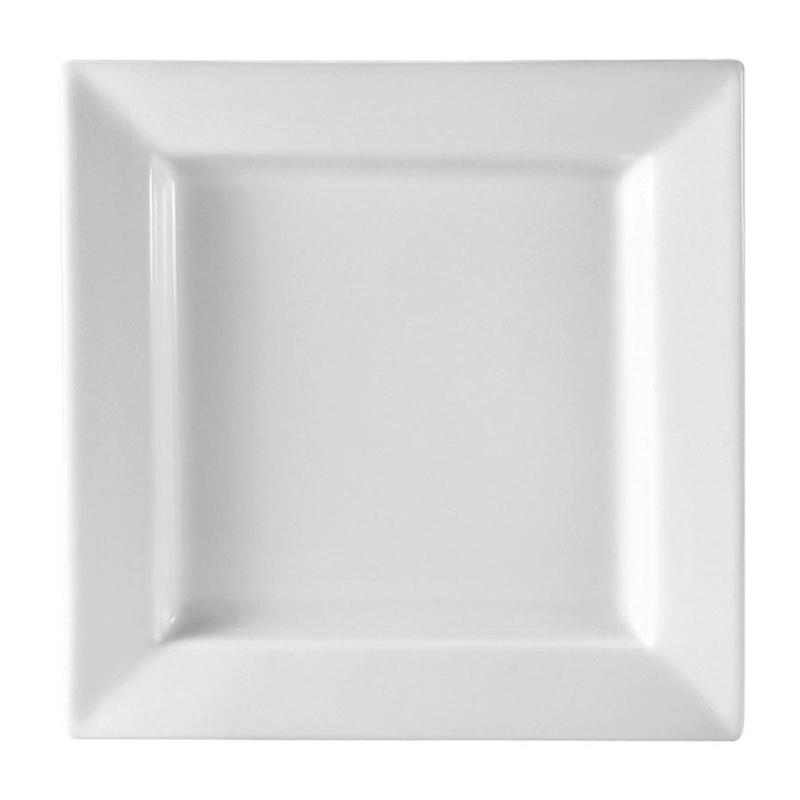 White Square Plate Rental