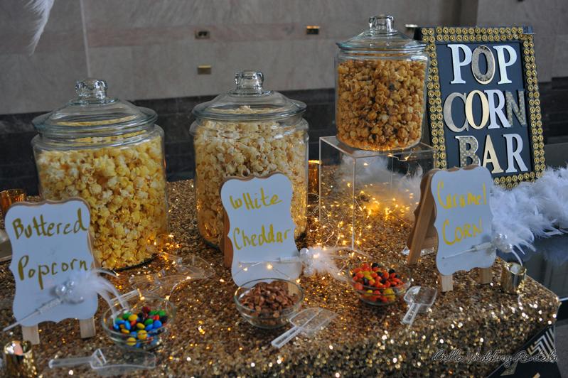 Popcorn Station Popcorn Bar Wedding Reception Popcorn